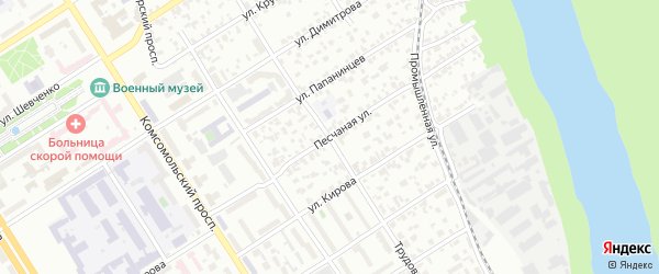 Трудовой переулок на карте Барнаула с номерами домов