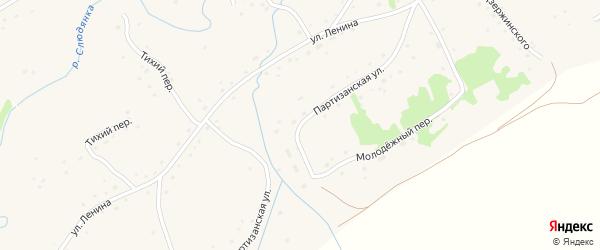 Партизанская улица на карте села Михайловки с номерами домов