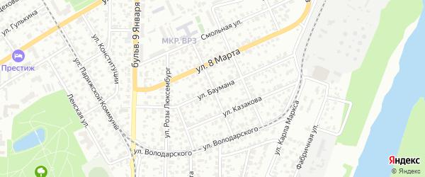Улица Ким на карте Барнаула с номерами домов