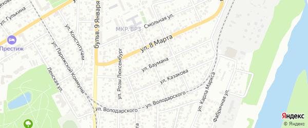 Улица Баумана на карте Барнаула с номерами домов