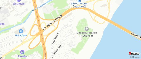 Проезд Выставочный Взвоз на карте Барнаула с номерами домов