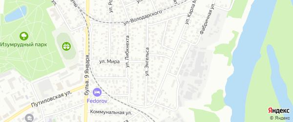 Улица Энгельса на карте Барнаула с номерами домов