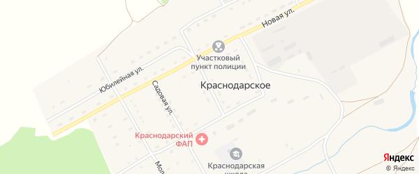 Улица Юности на карте Краснодарского села с номерами домов