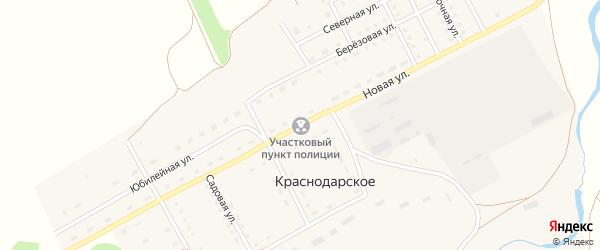 Новая улица на карте Краснодарского села с номерами домов