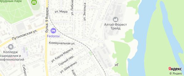 Фабричный проезд на карте Барнаула с номерами домов