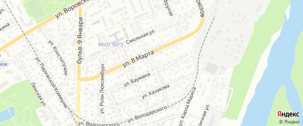 Улица Октябрят на карте Барнаула с номерами домов