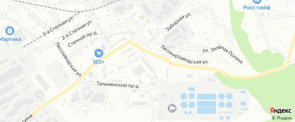 Улица Степанова на карте Барнаула с номерами домов