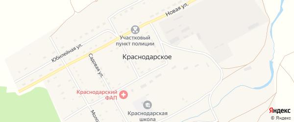 Солнечная улица на карте Краснодарского села с номерами домов