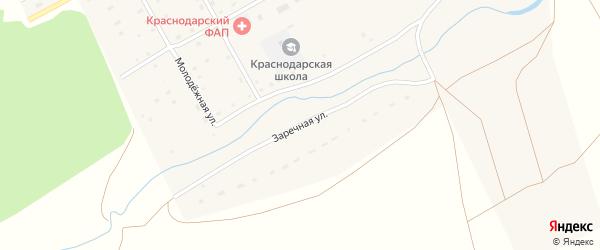 Заречная улица на карте Краснодарского села с номерами домов