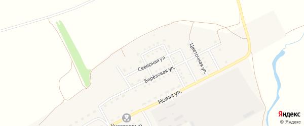 Северная улица на карте Краснодарского села с номерами домов