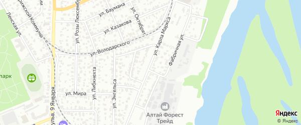 Улица Карла Маркса на карте Барнаула с номерами домов