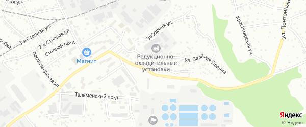 Лесокирзаводская улица на карте Барнаула с номерами домов