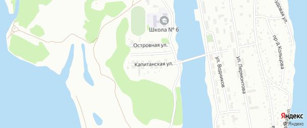 Капитанская улица на карте Барнаула с номерами домов