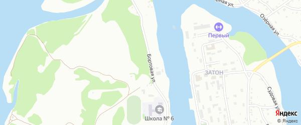 Бортовая улица на карте Барнаула с номерами домов