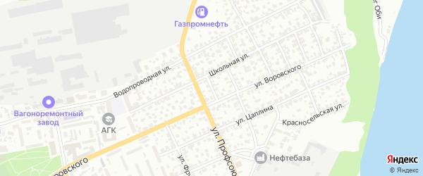 Амурский 8-й переулок на карте Барнаула с номерами домов