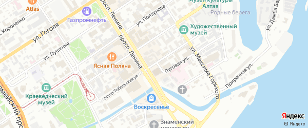 Мало-Тобольская улица на карте Барнаула с номерами домов