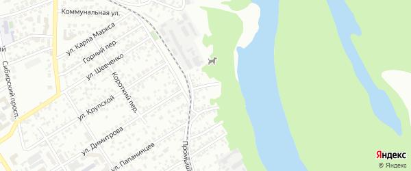 Промышленный 5-й переулок на карте Барнаула с номерами домов