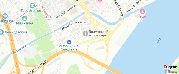 Базарный переулок на карте Барнаула с номерами домов