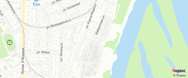 Фабричная 2-я улица на карте Барнаула с номерами домов