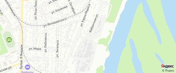 Фабричная улица на карте Барнаула с номерами домов