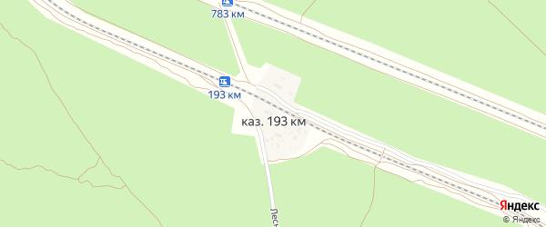 Лесная улица на карте железнодорожной казармы 193 км с номерами домов