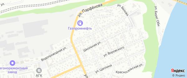 Амурский 6-й переулок на карте Барнаула с номерами домов