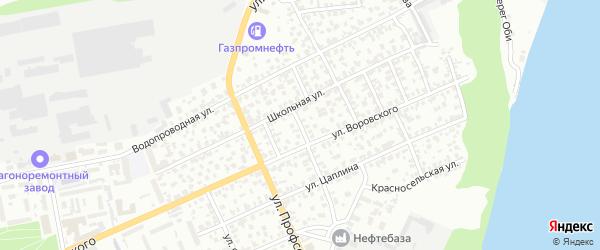 Амурский 7-й переулок на карте Барнаула с номерами домов