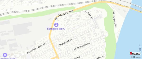 Амурский 5-й переулок на карте Барнаула с номерами домов