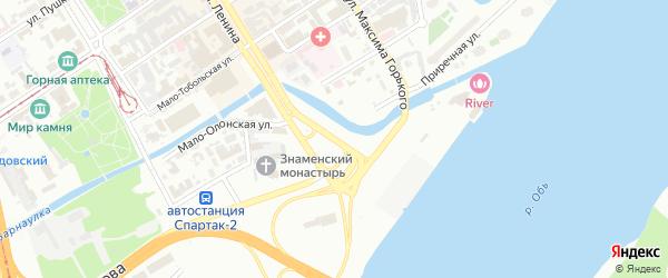 Площадь им В.Н.Баварина на карте Барнаула с номерами домов