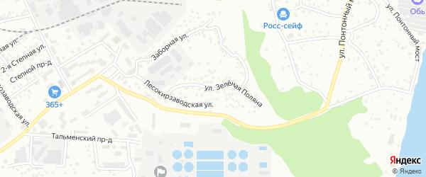 Улица Зеленая Поляна на карте Барнаула с номерами домов