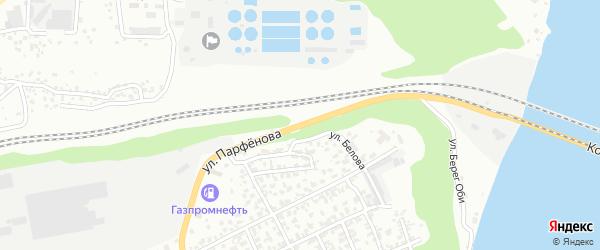 Улица Парфенова на карте Барнаула с номерами домов
