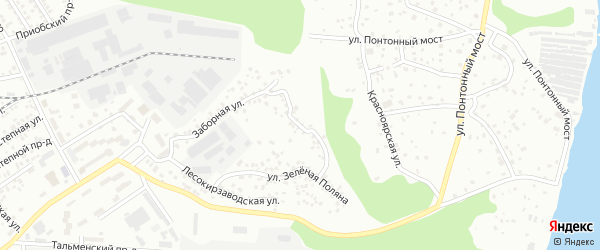 Северная улица на карте садового некоммерческого товарищества Аэрофлота с номерами домов