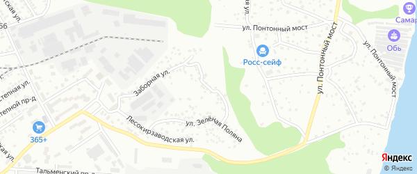 Северная улица на карте территории сдт Озерного с номерами домов