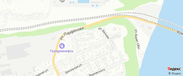 Улица Белова на карте Барнаула с номерами домов