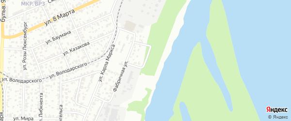 Нефтяной переулок на карте Барнаула с номерами домов