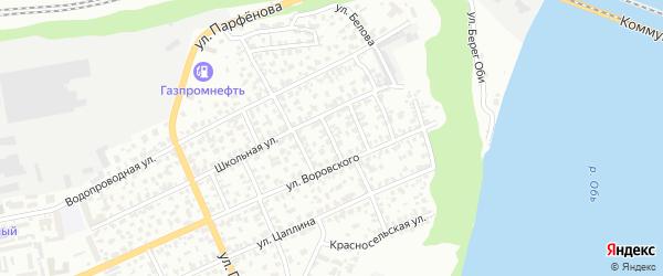 Амурский 4-й переулок на карте Барнаула с номерами домов