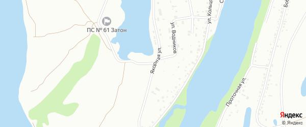 Якорная улица на карте Барнаула с номерами домов