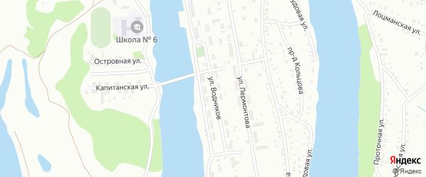 Улица Водников на карте Барнаула с номерами домов