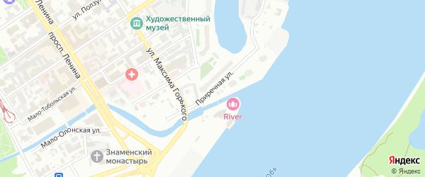 Приречная улица на карте Барнаула с номерами домов