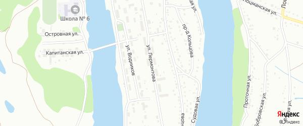 Улица Лермонтова на карте Барнаула с номерами домов
