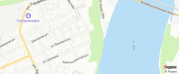 Амурский 1-й переулок на карте Барнаула с номерами домов