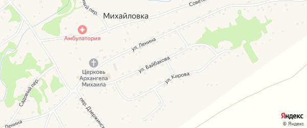 Улица Байбакова на карте села Михайловки с номерами домов