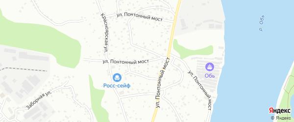 Улица Понтонный Мост на карте Барнаула с номерами домов