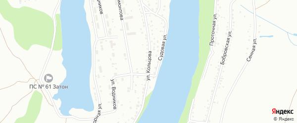 Улица Кольцова на карте Барнаула с номерами домов