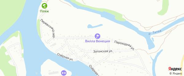 Пароходная улица на карте Барнаула с номерами домов