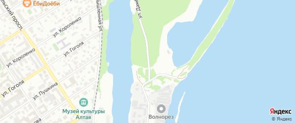 Улица Дамба Берега Оби на карте Барнаула с номерами домов