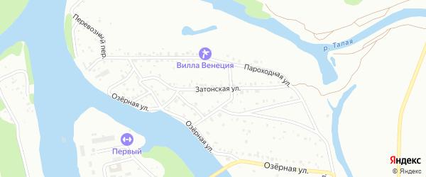 Затонская улица на карте Барнаула с номерами домов