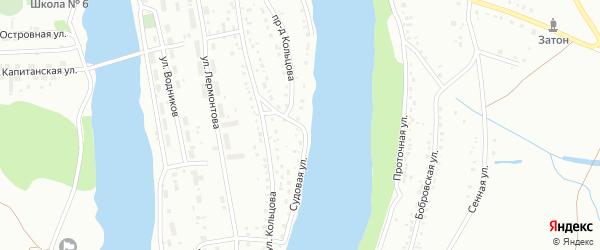 Судовая улица на карте Барнаула с номерами домов