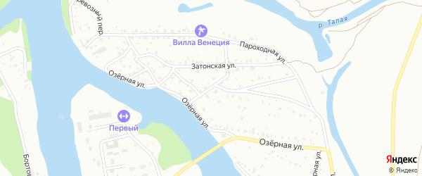 Рыбацкий переулок на карте Барнаула с номерами домов