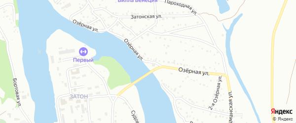 Озерная улица на карте Барнаула с номерами домов